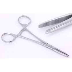 FLAT NOSE Hemostat Tool Designed by Shawn O'Hare for Dermal Anchor Insertion